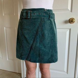 NWOT Green Corduroy Mini Skirt